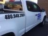 High impact car decal phone number